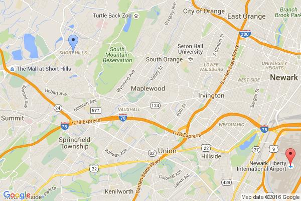 Short Hills - Newark Airport